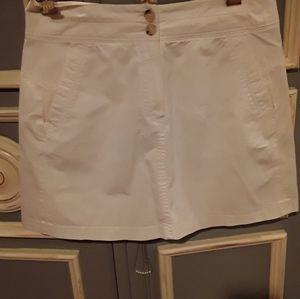 Theory cream mini  skirt